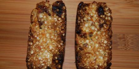 Barre de quinoa et gingembre