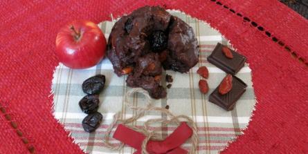 Fondants au chocolat, cœurs de cranberries