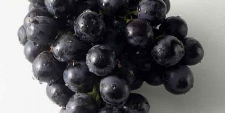 Poulet poché au thym, épinards frais et raisins