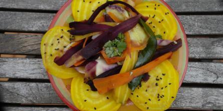 Ribambelle de légumes mi-cuits mi-crus