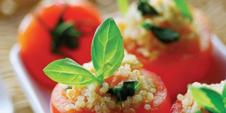 Tomates farcies végétariennes (crédit © Olivier Degorce)