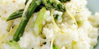 Risotto safrané aux asperges et fèves